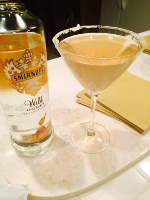 Strawberry Lemon Honey Martini for New Years Eve | www.organizedisland.com Content for 21+