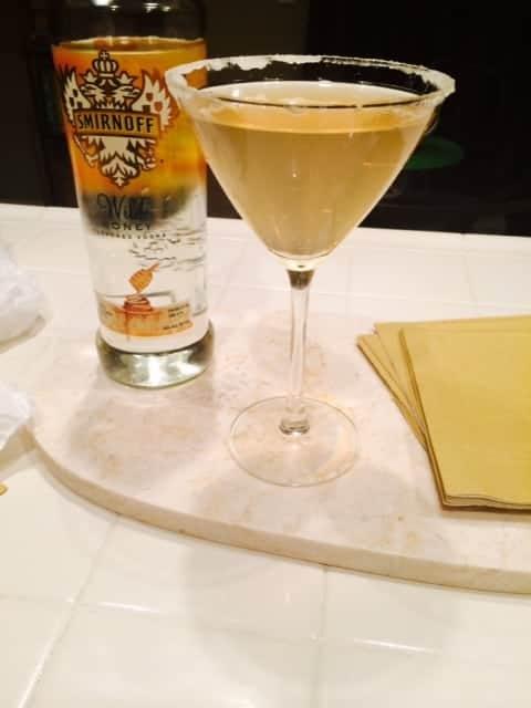 Strawberry Lemonade & Honey Martini