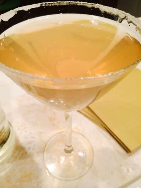 Strawberry Lemons and Honey Martini