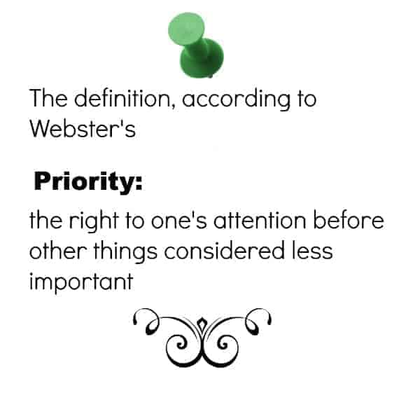 Priority Definition