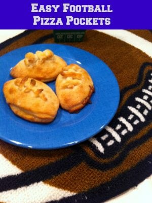 Simple Football Pizza Pockets