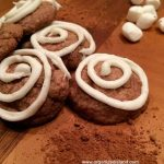Cocoa Cookies with Marshmallow Icing