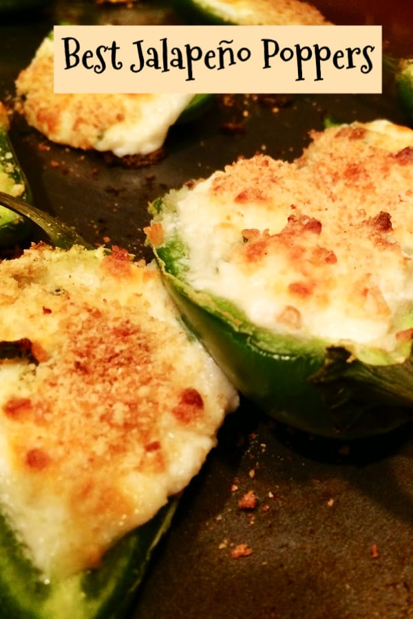 Jalapeno poppers with cheese and bread crumbs
