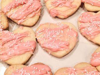candied valentines cookies
