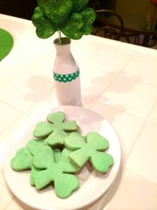 cookies for St. Patrick's Day