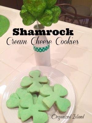 Shamrock Cream Cheese Cookies
