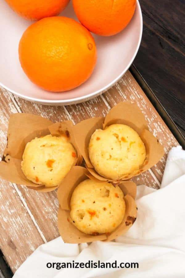 Buttermilk orange muffins