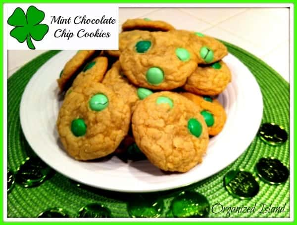 Mint Chocolate Chip M&M Cookies