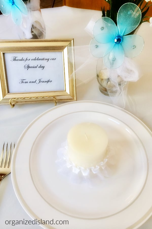 dollar store wedding DECOR