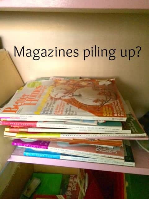 Spring Cleaning – Magazine Organization