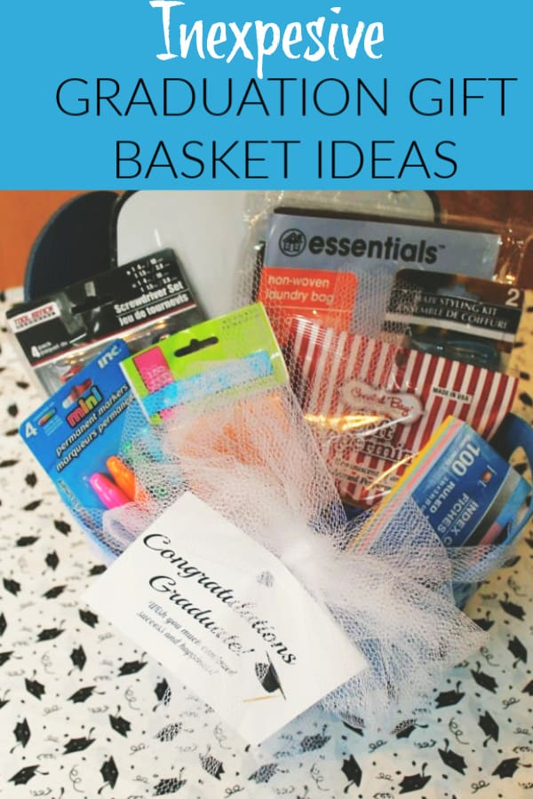 Dollar store graduation basket