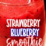 Strawberry blueberry smoothie