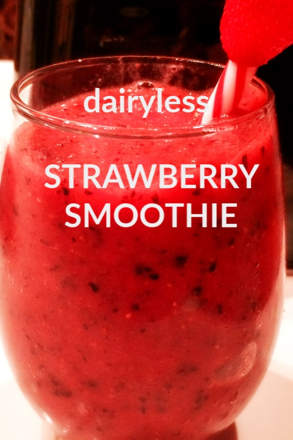 Blueberry strawberry smoothie