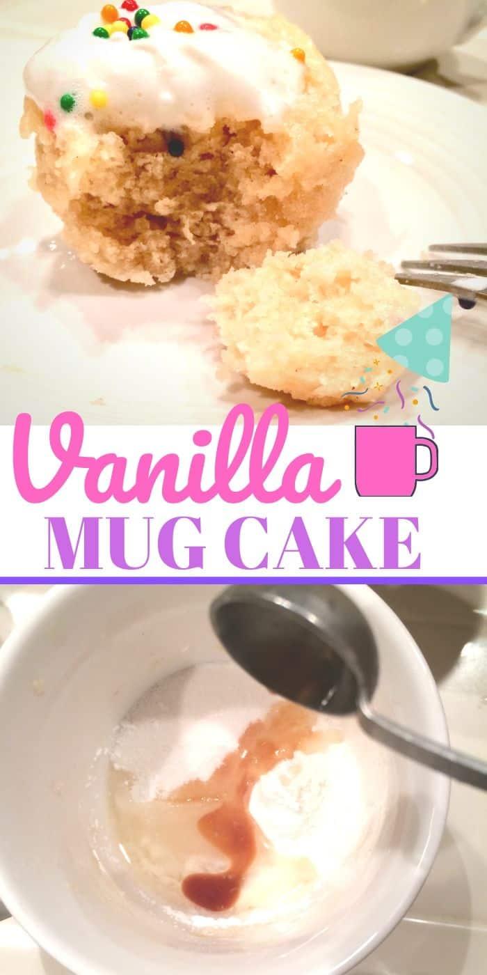 Vanilla Mug cake with cinnamon