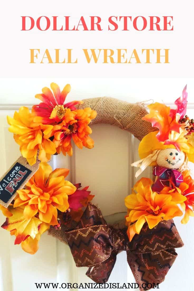 quick fall wreath tutorial