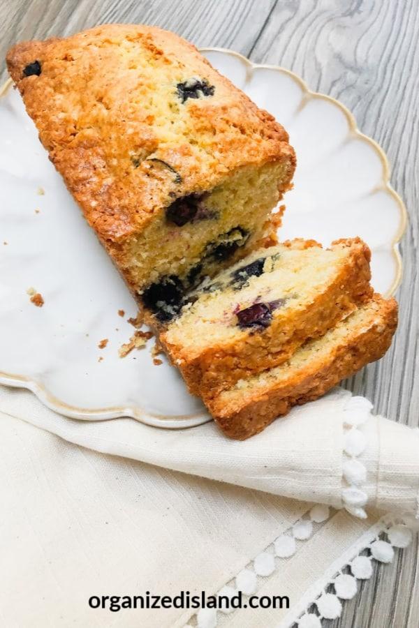 Easy Lemon Blueberry Cake
