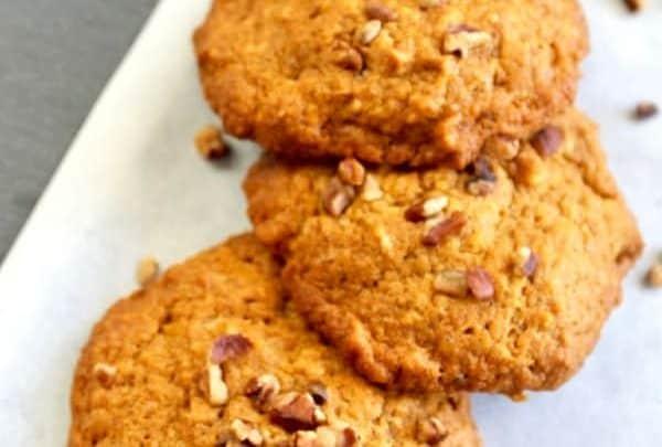 Pumpkin Cookies with Pecans
