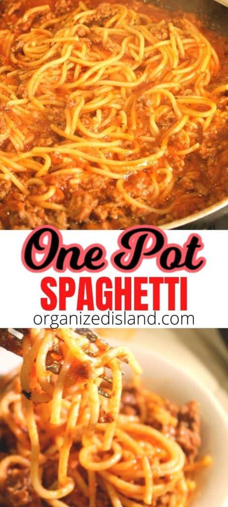 Best Spaghetti One Pot