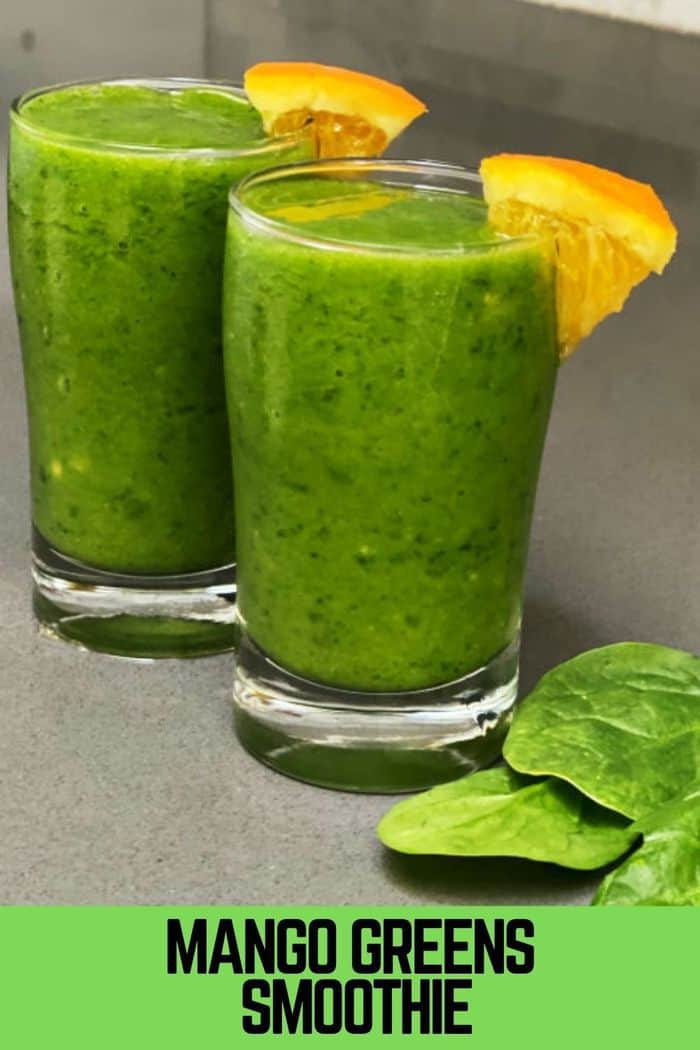 Mango Greens and spinach Smoothie