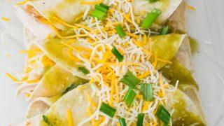 Chili Verde Enchiladas