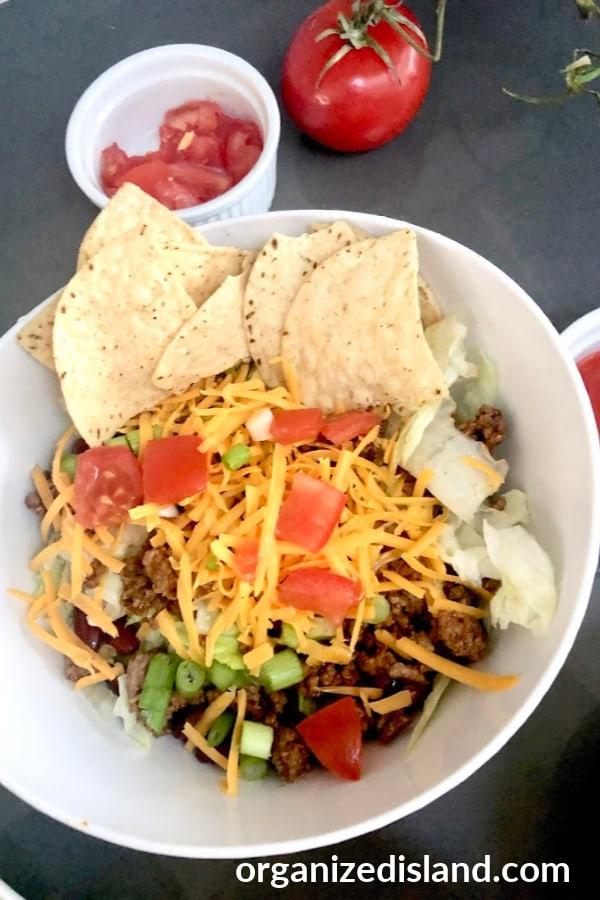 make ahead taco salad recipe