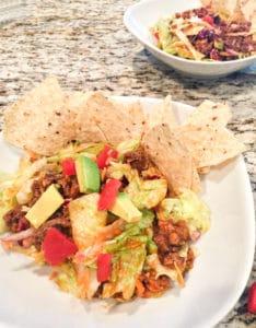 Make Ahead taco salad