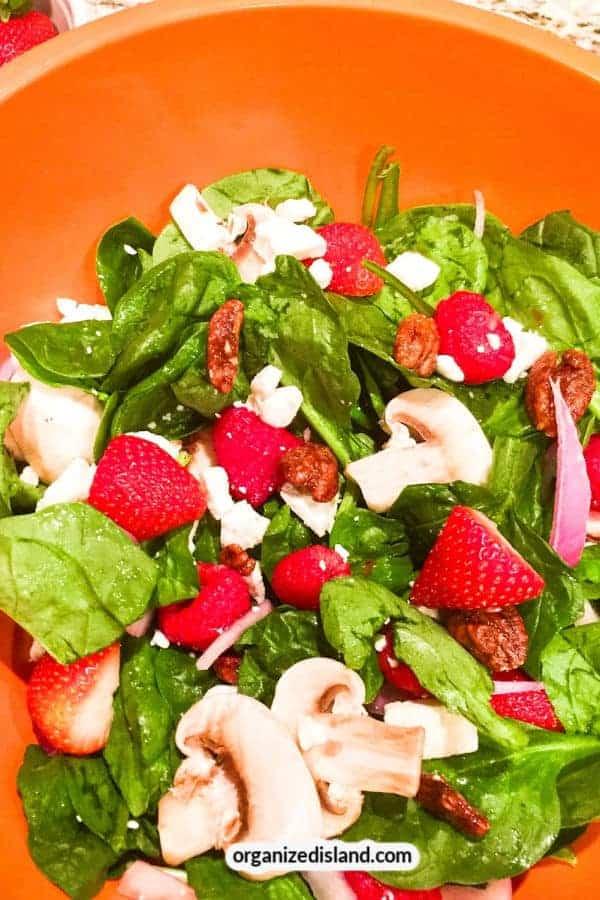 Strawberry Spinach Salad Feta