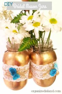 DIY hanging mason jars for wedding