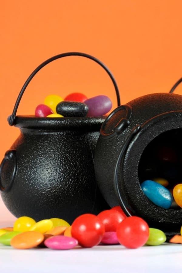cauldron with treats