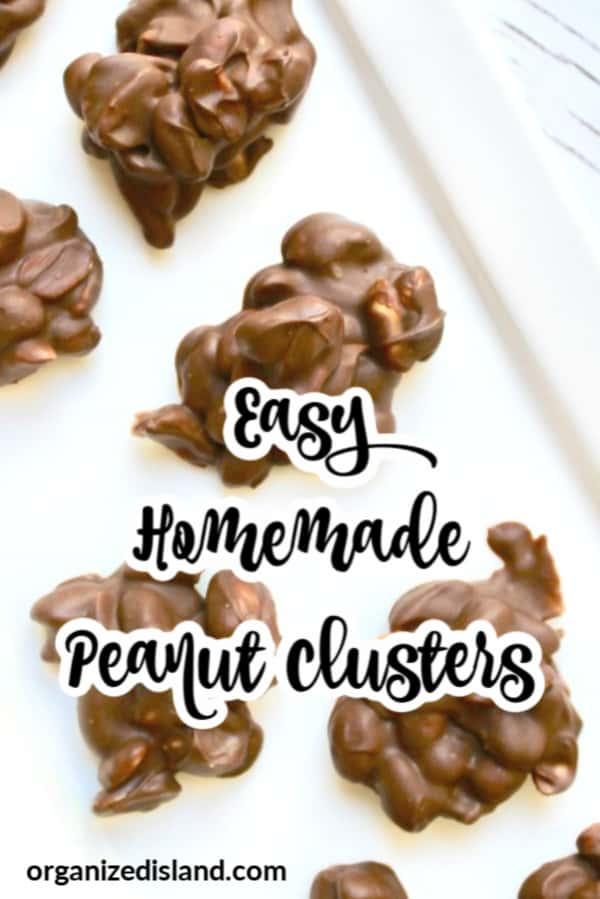 Homemade peanut clusters