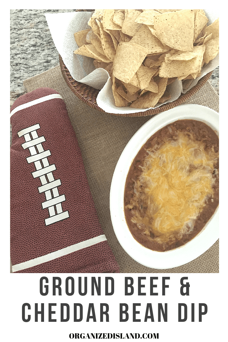 ground beef & cheddar bean dip