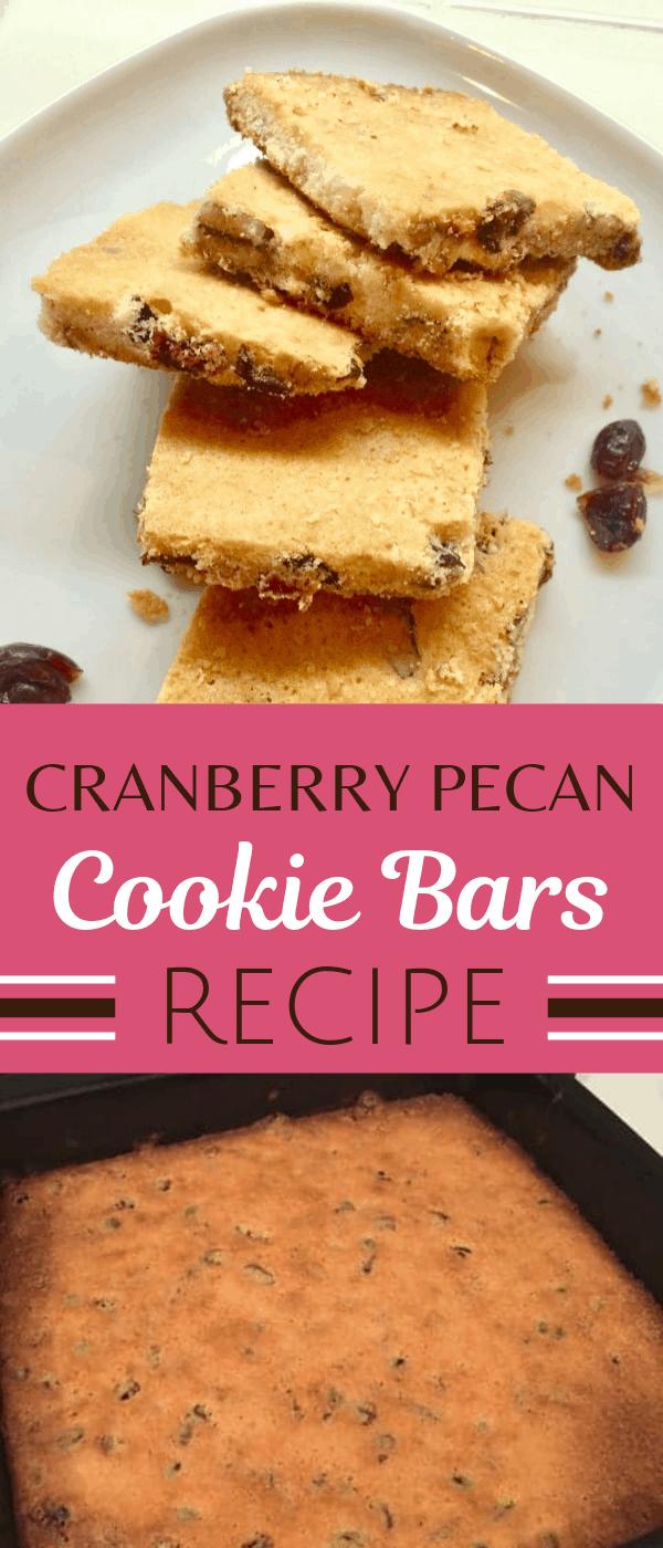 Cranberry Pecan Cookie Bars Recipe