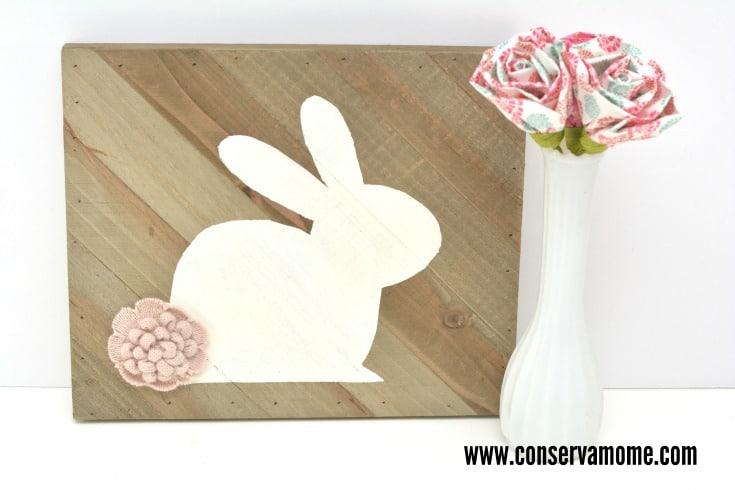 wood bunny art