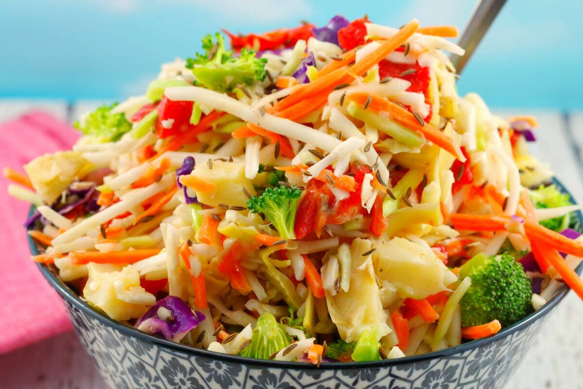 Artichoke Red Pepper Coleslaw