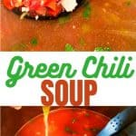 Green chili soup