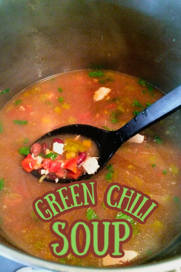 How to make green chili soup