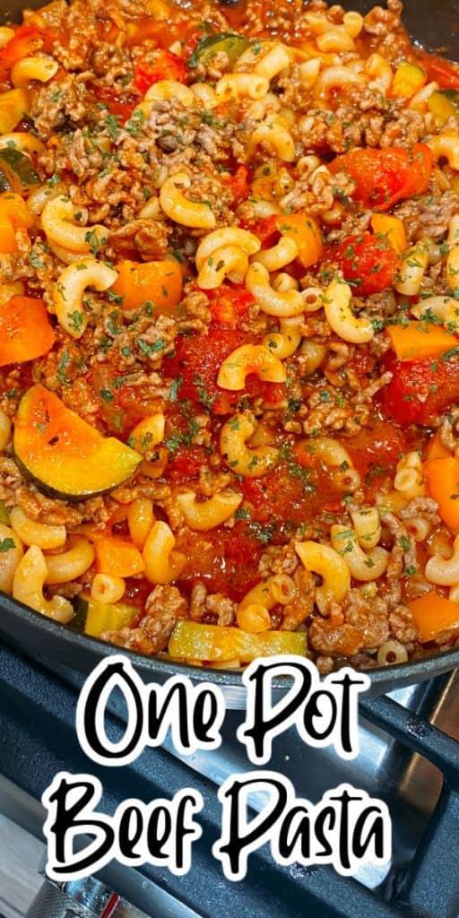 One Pot Beef Pasta Recipe