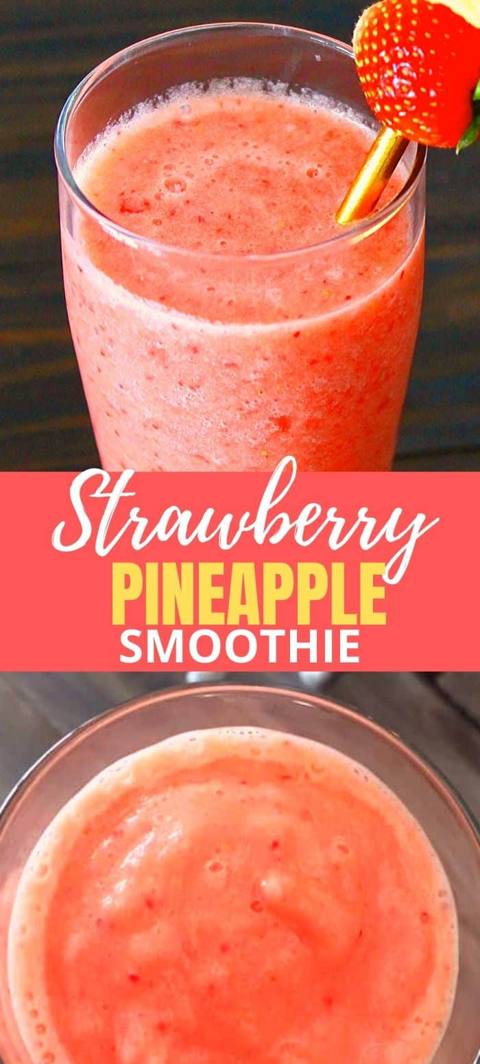 How to make a strawberry and pineapple smoothie