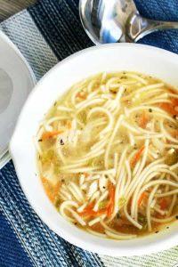 chicken soup spaghetti