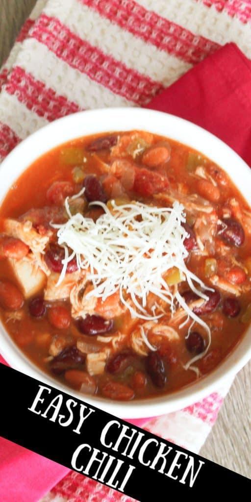 Easy chicken chili