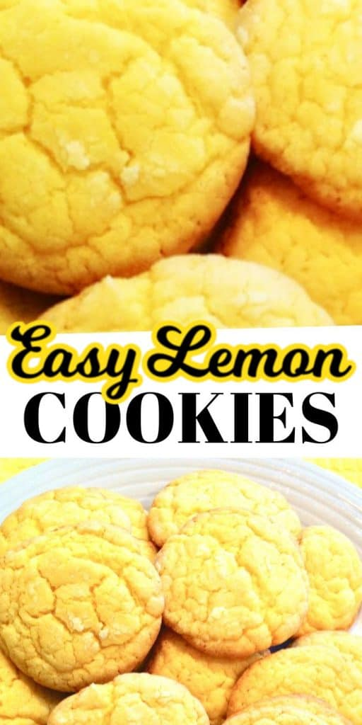 Soft Lemon Cookies Easy