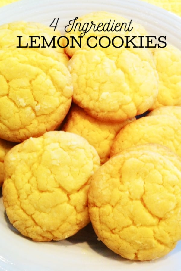 Cake Mix Lemon Cookies