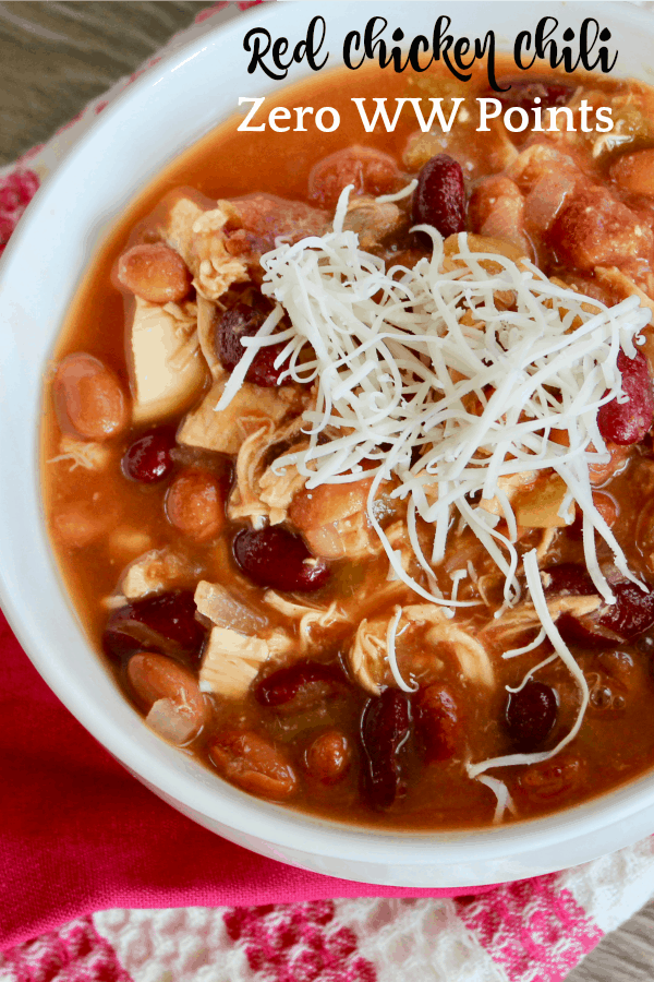 Chili with red beans and chicken
