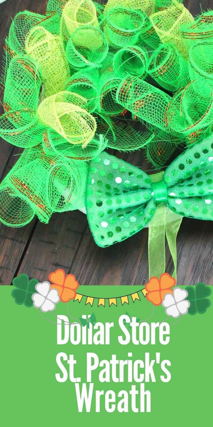 St. Patricks Dollar Store Wreath