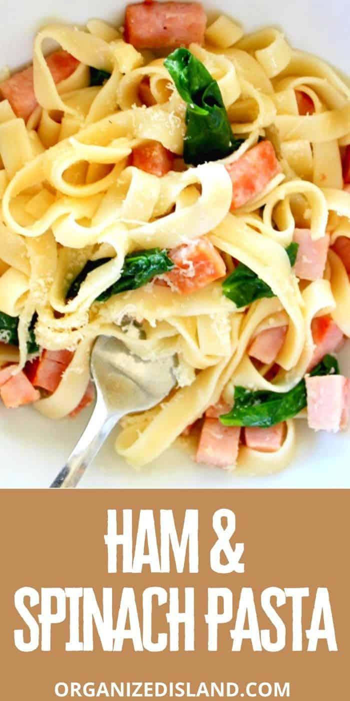 Ham & Spinach Pasta