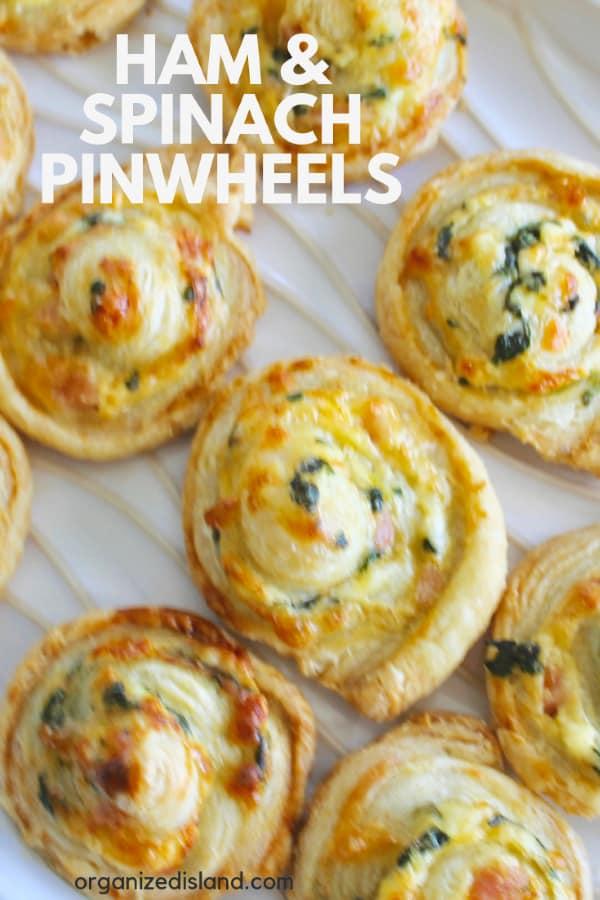 Ham Pinwheels appetizer