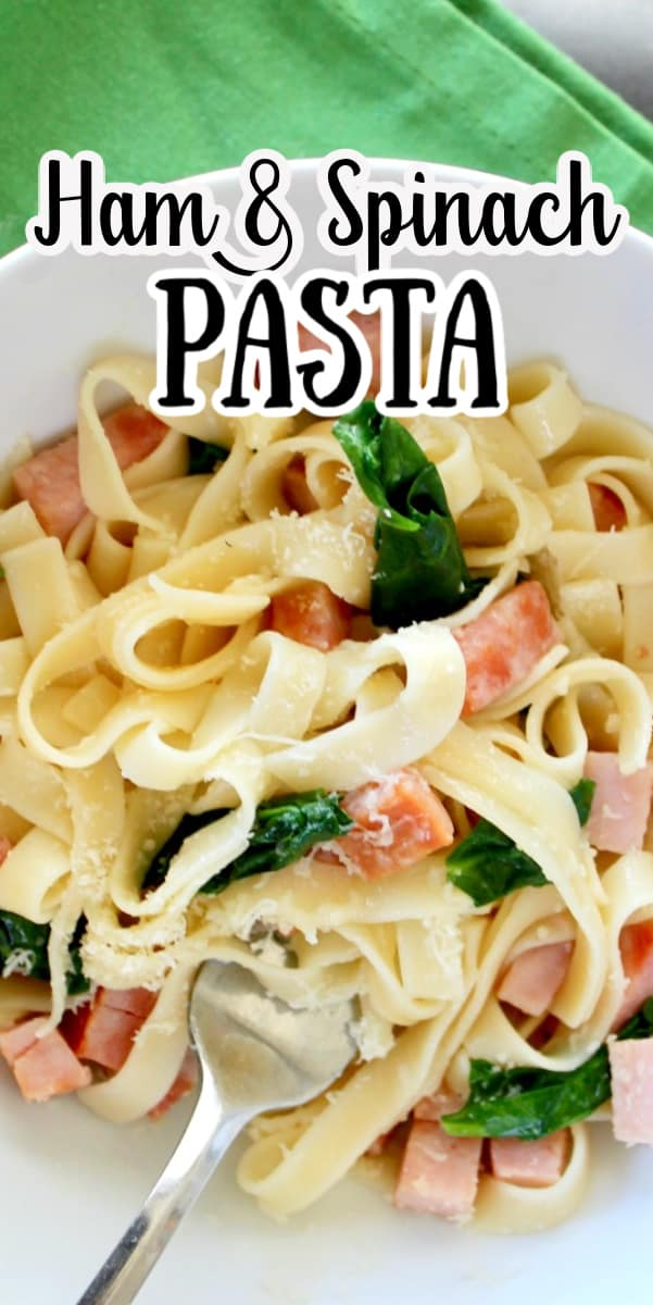 ham and spinach pasta