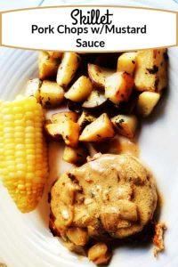 Skillet pork chops with mustard