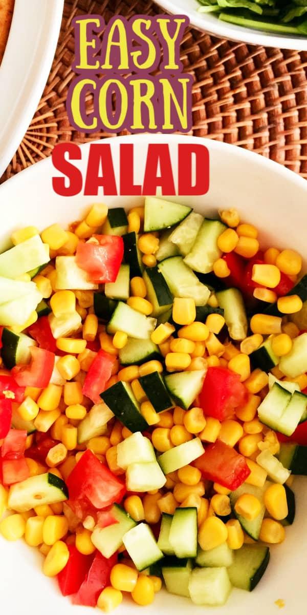 Easy Corn tomato salad
