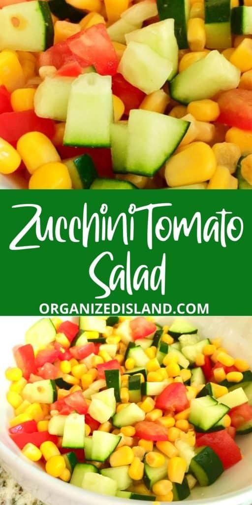 Zucchini Tomato Salad with corn